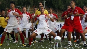 Jogadores do Taiti comemoram título da Copa das Nações da Oceania