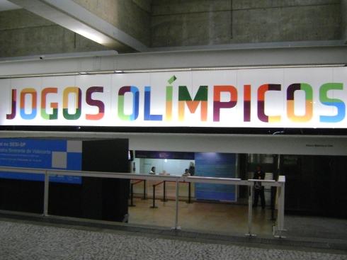 Entrada da Exposição dos Jogos Olímpicos na Fiesp Foto: Rogério Santana
