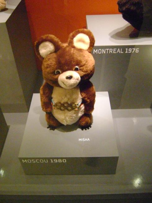 Misha, mascote dos Jogos de Moscou em 1980 Foto: Rogério Santana