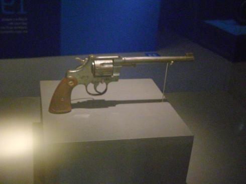 Pistola usada por Guilherme Paraense em Antuérpia, 1920 Foto: Rogério Santana
