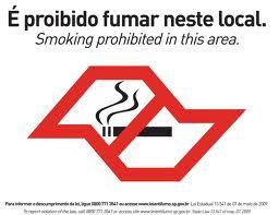 fumo proibido